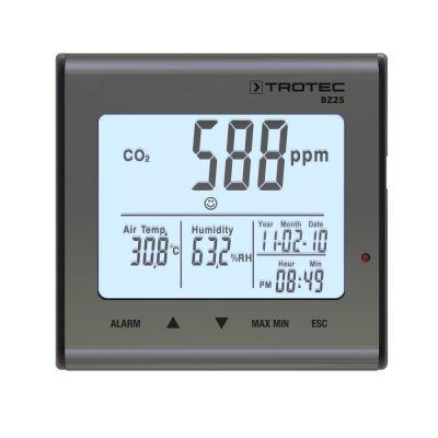 BZ25 CO2-levegőminőség-figyelő Mutatás a Trotec Webshopban